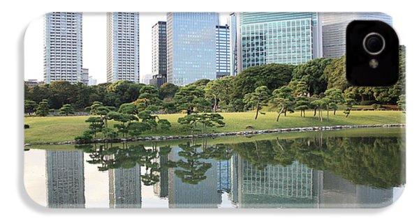 Tokyo Skyline Reflection IPhone 4s Case by Carol Groenen