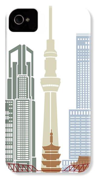 Tokyo V2 Skyline Poster IPhone 4s Case by Pablo Romero