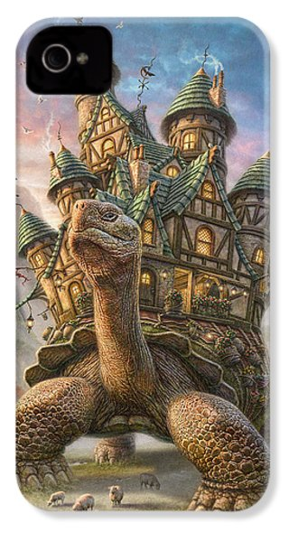 Tortoise House IPhone 4s Case by Phil Jaeger