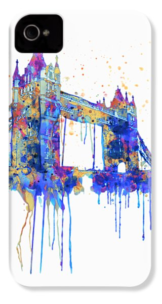 Tower Bridge Watercolor IPhone 4s Case
