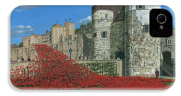 Tower Of London Poppies - Blood Swept Lands And Seas Of Red  IPhone 4s Case by Richard Harpum