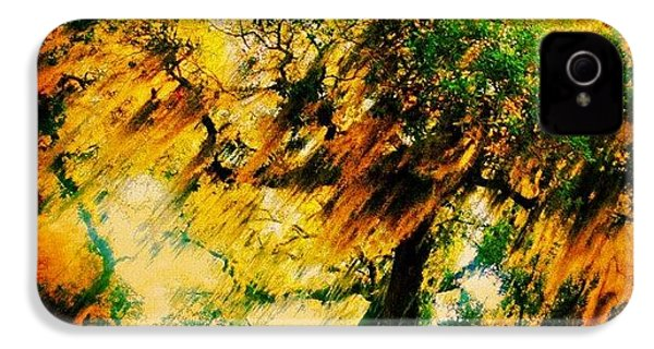 #tree #green #yellow #colourful #sc IPhone 4s Case