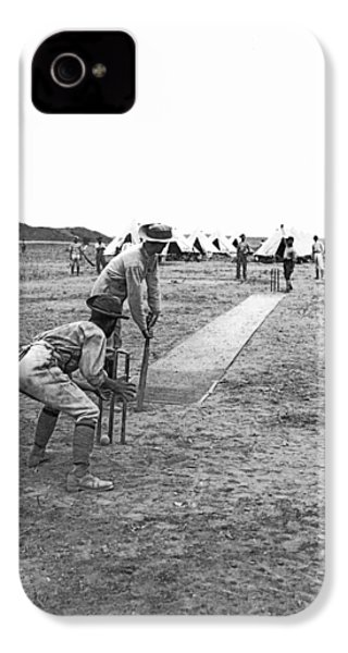 Troops Playing Cricket IPhone 4s Case by Underwood Archives