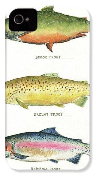 Trout Species IPhone 4s Case by Juan Bosco