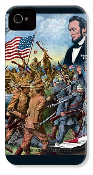 True Sons Of Freedom -- Ww1 Propaganda IPhone 4s Case by War Is Hell Store