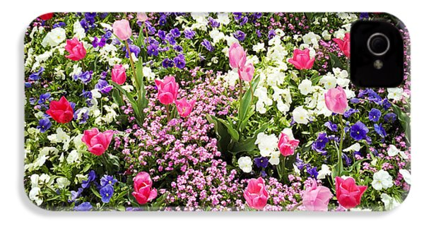 Tulips And Other Colorful Flowers In Spring IPhone 4s Case