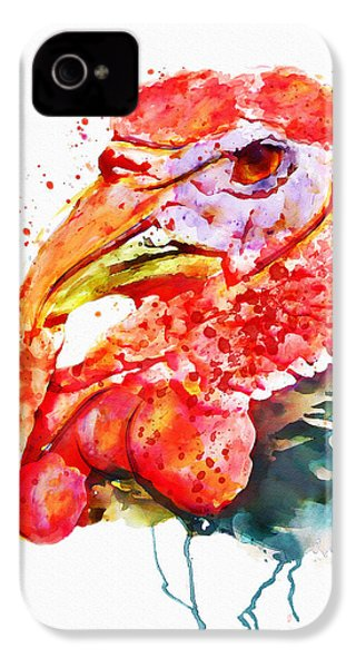 Turkey Head IPhone 4s Case by Marian Voicu