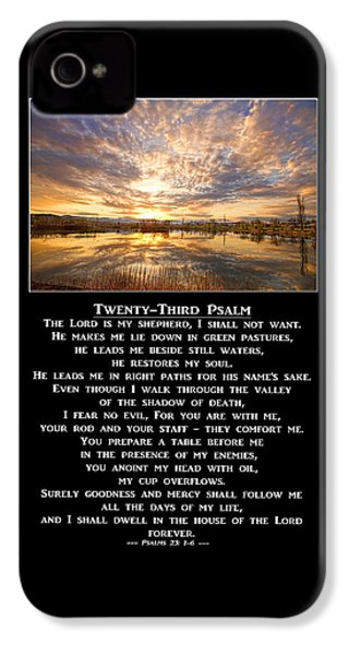 Twenty-third Psalm Prayer IPhone 4s Case by James BO  Insogna