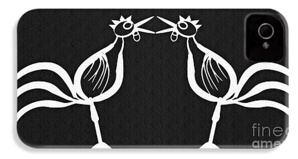 Two Crowing Roosters 2 IPhone 4s Case
