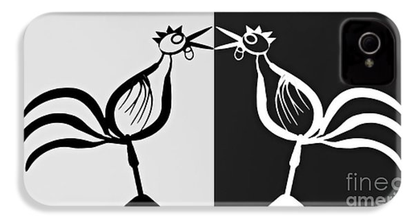 Two Crowing Roosters 3 IPhone 4s Case
