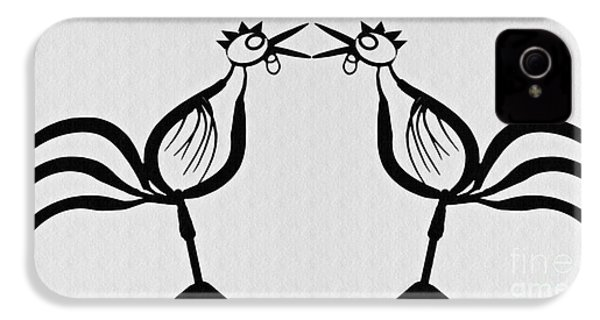 Two Crowing Roosters  IPhone 4s Case
