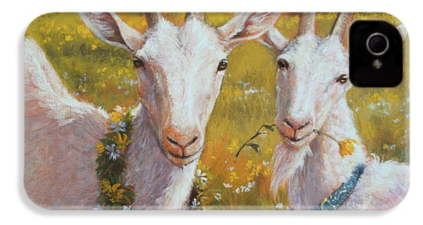 Two Goats Of Summer IPhone 4s Case by Tracie Thompson