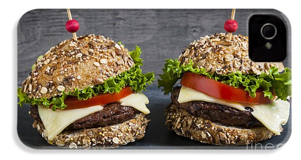 Two Gourmet Hamburgers IPhone 4s Case by Elena Elisseeva