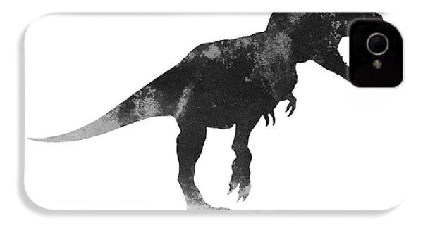 Tyrannosaurus Figurine Watercolor Painting IPhone 4s Case by Joanna Szmerdt