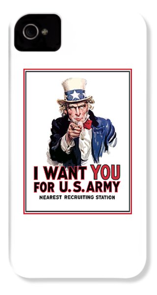 Uncle Sam -- I Want You IPhone 4s Case