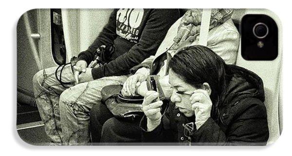 Underground Rimmel #blackandwhite IPhone 4s Case by Rafa Rivas