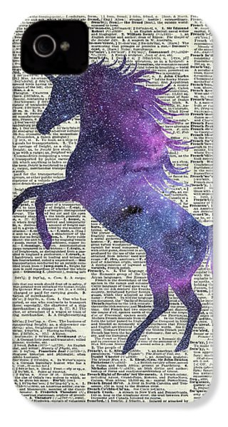 Unicorn In Space IPhone 4s Case by Jacob Kuch