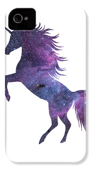 Unicorn In Space-transparent Background IPhone 4s Case by Jacob Kuch
