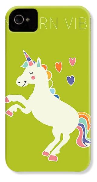 Unicorn Vibes IPhone 4s Case by Nicole Wilson