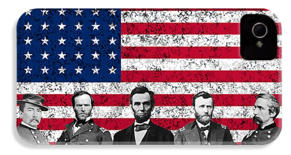 Union Heroes And The American Flag IPhone 4s Case by War Is Hell Store