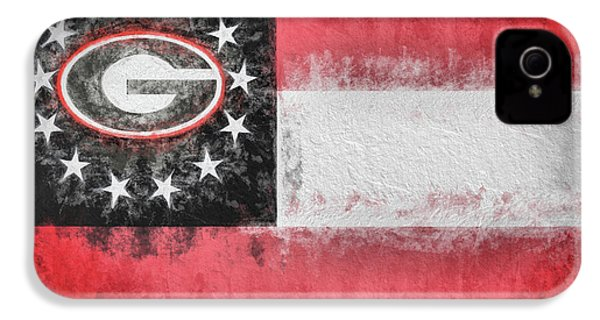 IPhone 4s Case featuring the digital art University Of Georgia State Flag by JC Findley