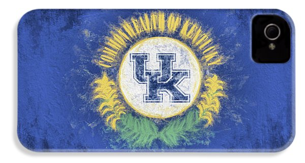 IPhone 4s Case featuring the digital art University Of Kentucky State Flag by JC Findley