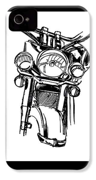 Urban Drawing Motorcycle IPhone 4s Case by Chad Glass