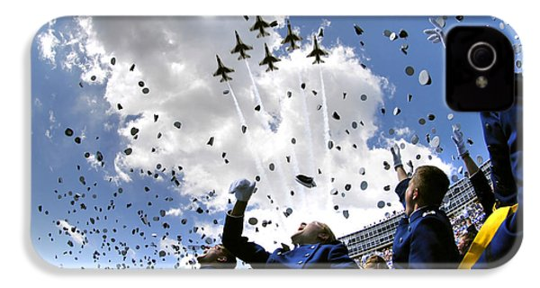 U.s. Air Force Academy Graduates Throw IPhone 4s Case by Stocktrek Images