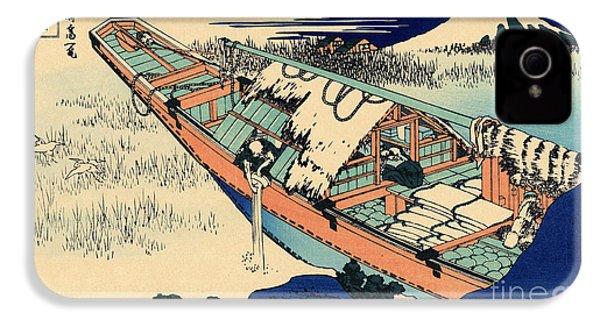 Ushibori In The Hitachi Province IPhone 4s Case by Hokusai