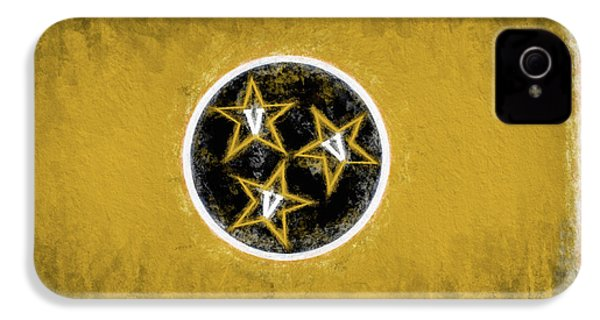 IPhone 4s Case featuring the digital art Vandy Tennessee State Flag by JC Findley