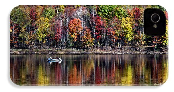 Vanishing Autumn Reflection Landscape IPhone 4s Case by Christina Rollo