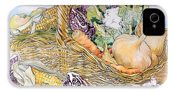 Vegetables In A Basket IPhone 4s Case by Joan Thewsey