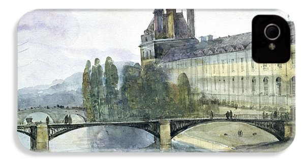View Of The Pavillon De Flore Of The Louvre IPhone 4s Case