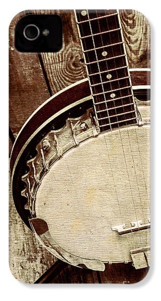 Vintage Banjo Barn Dance IPhone 4s Case by Jorgo Photography - Wall Art Gallery