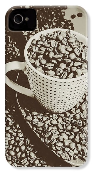 Vintage Coffee Art. Stimulant IPhone 4s Case by Jorgo Photography - Wall Art Gallery