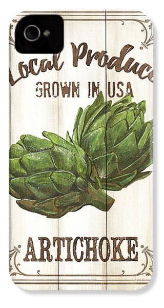 Vintage Fresh Vegetables 2 IPhone 4s Case by Debbie DeWitt