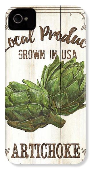 Vintage Fresh Vegetables 2 IPhone 4s Case by Debbie DeWitt