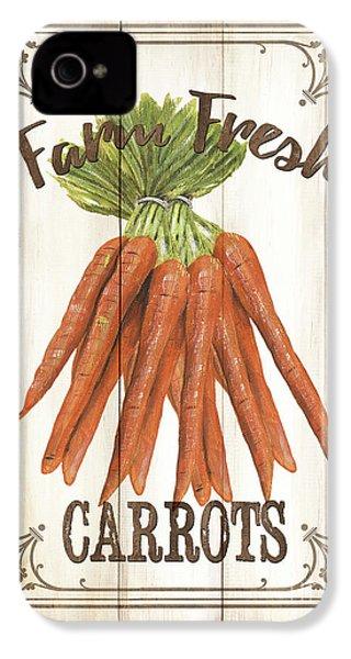 Vintage Fresh Vegetables 3 IPhone 4s Case by Debbie DeWitt