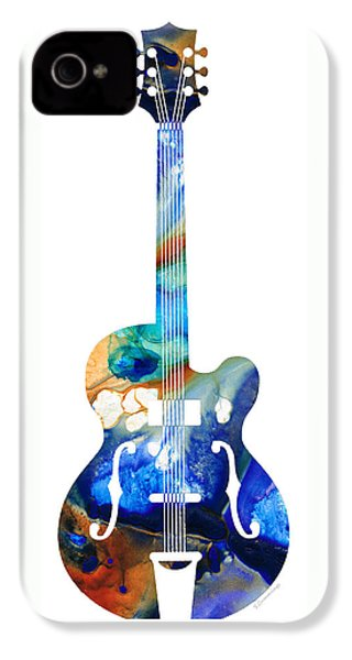 Vintage Guitar - Colorful Abstract Musical Instrument IPhone 4s Case