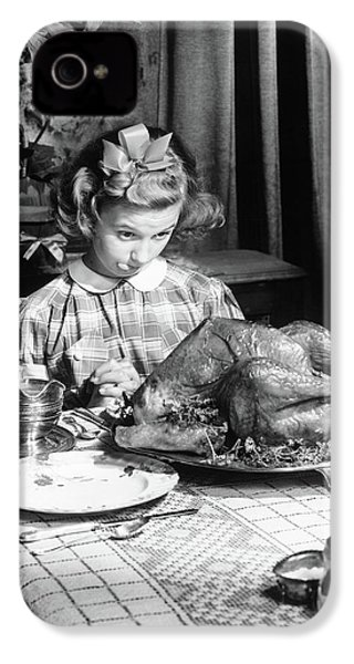 Vintage Photo Depicting Thanksgiving Dinner IPhone 4s Case by American School