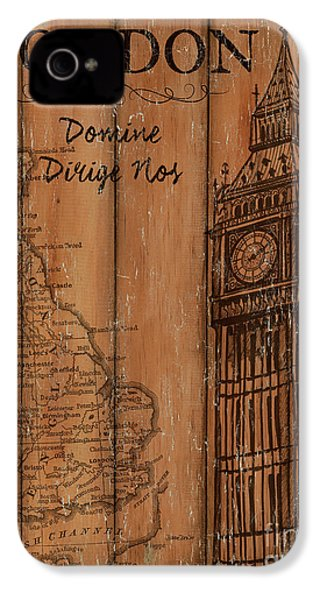 Vintage Travel London IPhone 4s Case by Debbie DeWitt
