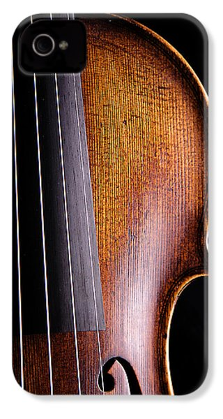 Violin Isolated On Black IPhone 4s Case by M K  Miller