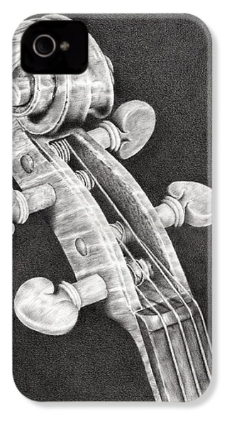 Violin Scroll IPhone 4s Case by Remrov