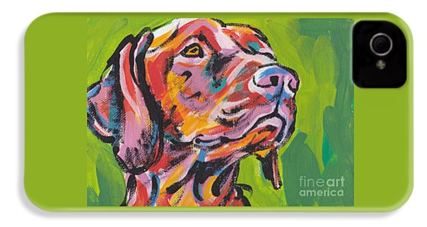 Viva La Vizsla IPhone 4s Case by Lea S