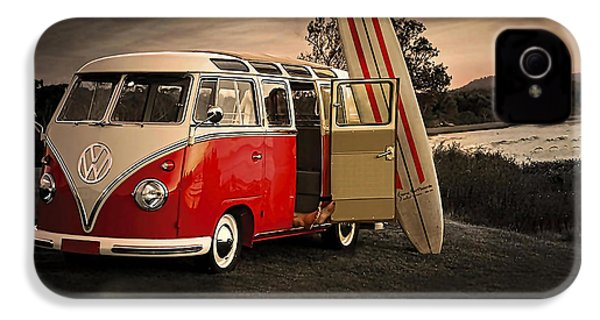 Vw Bus Sufrboard Beach Collection IPhone 4s Case by Marvin Blaine