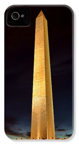 Washington Monument At Night  IPhone 4s Case by Olivier Le Queinec