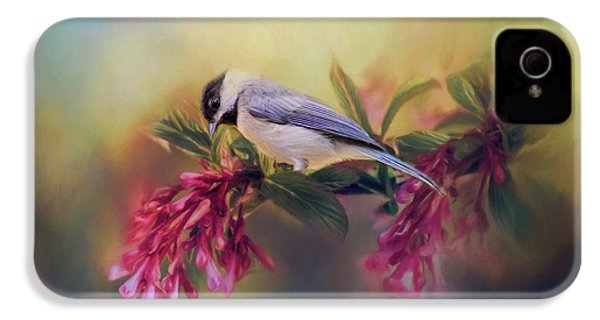 Watching Flowers Bloom Bird Art IPhone 4s Case by Jai Johnson