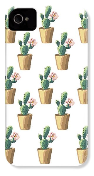 Watercolor Cactus IPhone 4s Case by Roam  Images
