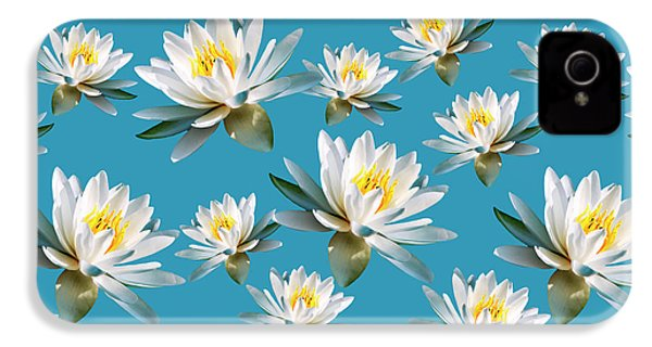 IPhone 4s Case featuring the mixed media Waterlily Pattern by Christina Rollo