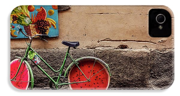 Watermelon Wheels IPhone 4s Case by Happy Home Artistry